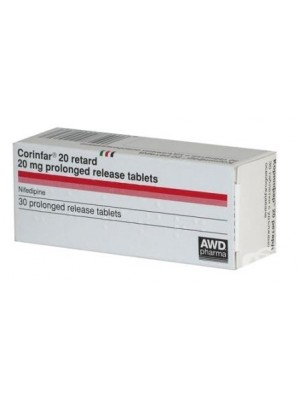 Corinfar 20 mg. 30 tablets
