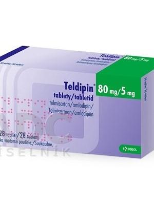 Teldipin 80 mg. / 5 mg. 28 tablets