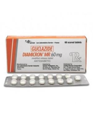 Gliclazide 60 mg. 30 tablets