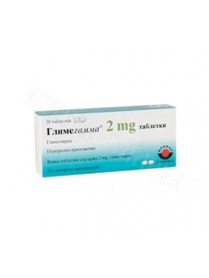Glimegamma 2 mg. 30 tablets