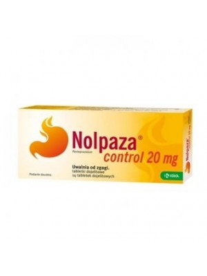 Nolpaza Control 20 mg. 14 tablets