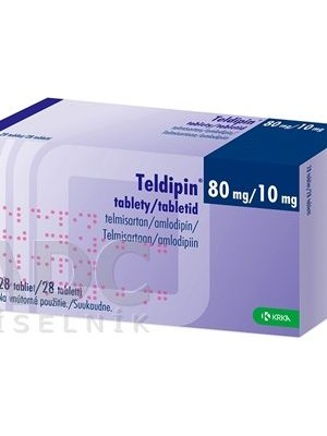Teldipin 80 mg. / 10 mg. 28 tablets