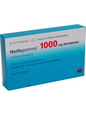 Metfogamma 1000 mg. 60 tablets