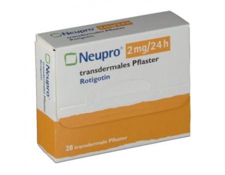 Neupro 2 mg.  24 h. 28 transdermal patches