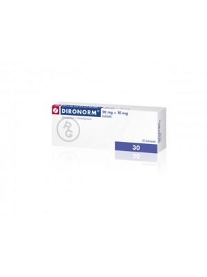 Dironorm 20 mg. 10 mg. 30 tablets