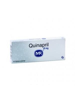 Quinapril 20 mg. / 12.5 mg. 10 tablets