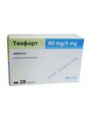 TELFORT 80 mg. / 5 mg. 28 tablets