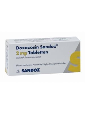 Doxazosin 2 mg. 30 tablets