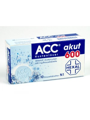 ACC akut 600 mg. 10 tablets