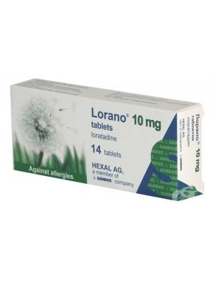 Lorano 10 mg. 14 tablets