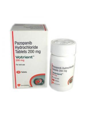 Votrient 200 mg. 30 tablets