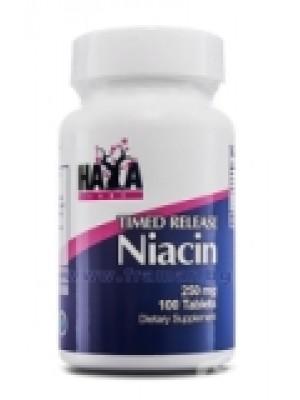 NIACIN TR 250 mg. 100 tablets