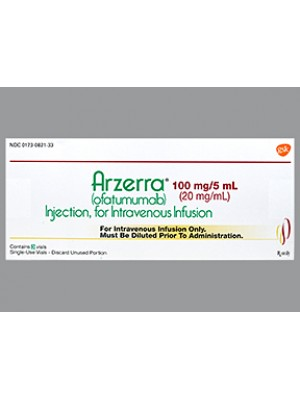 ARZERRA 100 mg. 5 ml. 3 vials