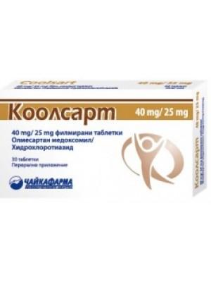COOLSART 20 mg / 12.5 mg. 30 tablets