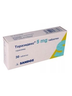 TORAZIDEX 5 mg. 30 tablets