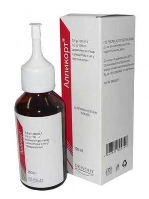 Alpicort solutsio 100 ml.