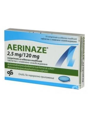 AERINAZE 120 mg. 10 tablets