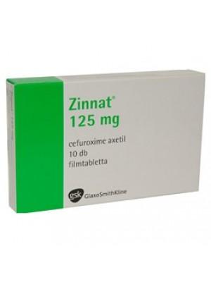 Zinnat 125 mg. 10 tablets