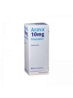 Arava 10 mg. 30 tablets