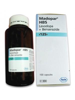Madopar HBS and 100 mg. / 25 mg. 100 capsules