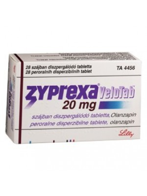 Zyprexa VELOTAB. dispersible table. 20 mg. 28 tablets