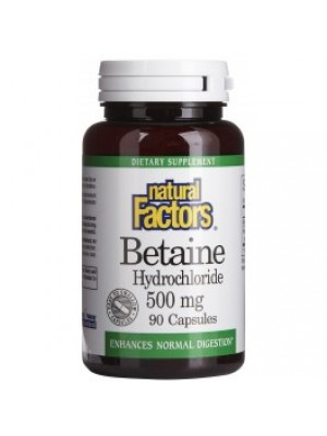 Betaine hydrochloride. 90 capsules
