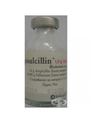 AMPISULCILLIN. 1.5 g, 1 vial