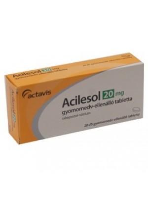ACILESOL gastro - resistant table. 20 mg.