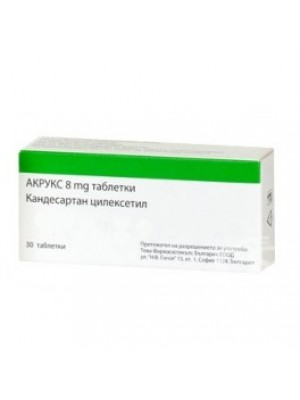 ACRUX. 8 mg. 30 tablets
