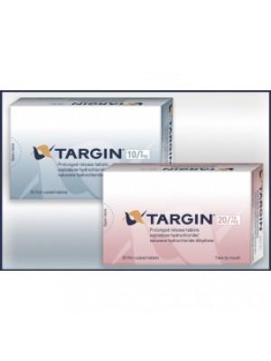 TARGIN. 20 mg. / 10 mg. 50 tablets