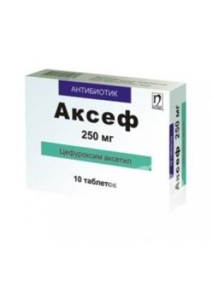 AKSEF 250 mg. 10 tablets