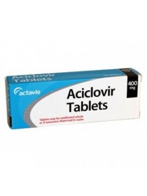 Aciclovir 400 mg. 10 tablets