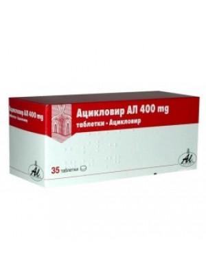Aciclovir AL Table. 400 mg. 35 table