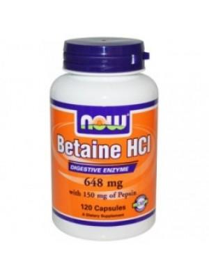 Betaine HCI 648 mg. 120 capsules
