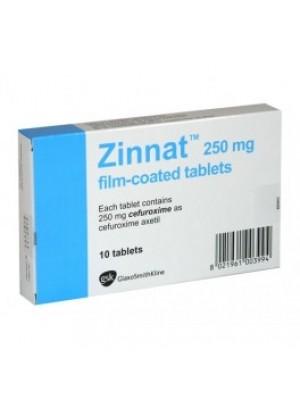 Zinnat table. 250 mg. 10 tablets